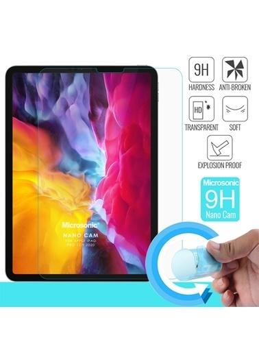 Microsonic Apple iPad Pro 12.9'' 2020 4. Nesil (A2229-A2069-A2232) Nano Cam Ekran Koruyucu Renksiz